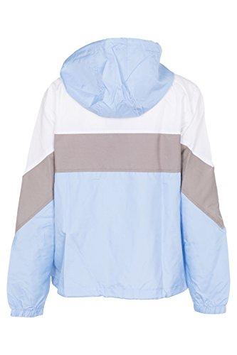 Veste Femmes vent Coupe Encapuchonn Haut Bleu t Jacket Panneau Blouson wRgFqgX