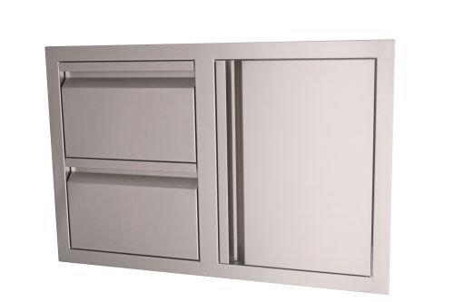 RCS Gas Grills VDC1 Valiant Stainless Steel Double Drawer/Door Combo