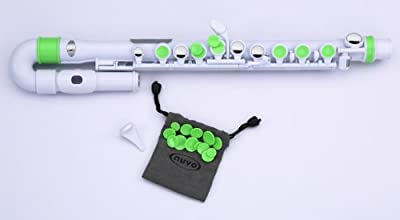 Nuvo N220KCGR Colored Key Caps Set for Flutes, Green