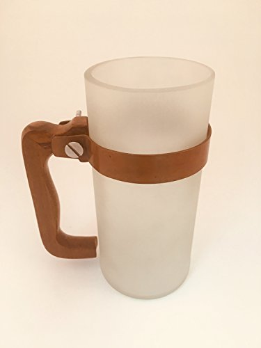 UPCYCLED BEER MUG- Made for recycled beer & vodka bottles (FROSTED, 4)