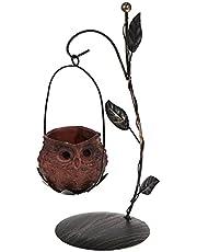 GARNECK Vintage Candle Holder Cast Iron Owl Tealight Holder Lantern Metal Incense Holder Modern Decorative Dinner Table Centrepiece for Dinner Wedding