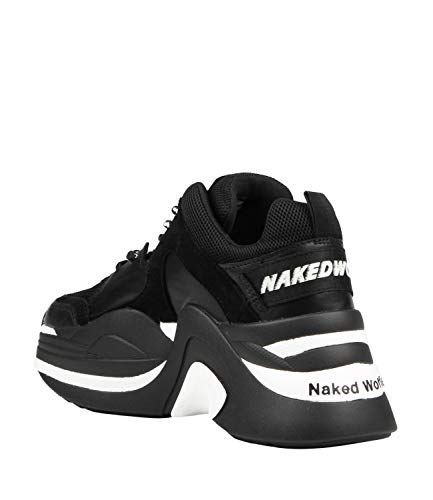 Platform Nero Naked Wolfe Donna Basse Combo White Scarpe Con Track RRaXq6w