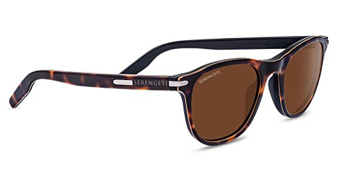 Serengeti Andrea Polarized Drivers Sunglasses, Shiny Dark ()
