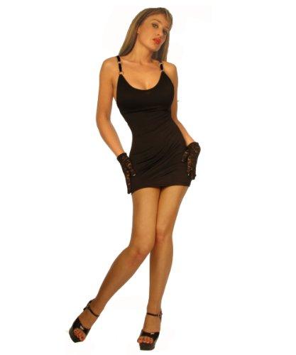 XS discoteca Mini Nero la per Dimensioni Stretta L vestito Club e 8aTUqxWZn