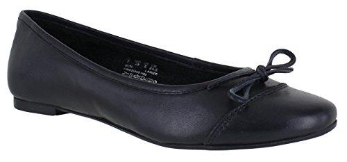 Hush Puppies Alina Grace Womens Slip On Smart Ballerina Flat Shoes UK 4 Navy drsd2A