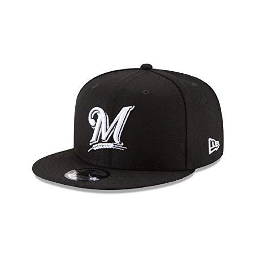 Milwaukee Brewers MLB Basic Black White 9Fifty Snapback Cap ()