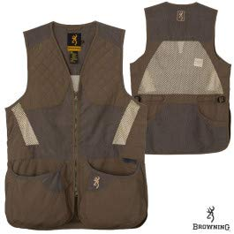 Browning, Men's Summit Shooting Vest, Green/Dark Gray, Medium