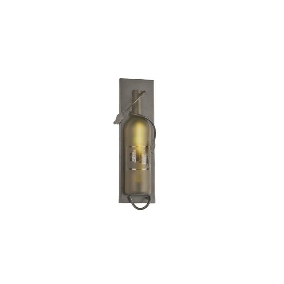 Meyda Tiffany 99373 Antique Bronze Wine Bottle Transitional Single Light Ambient Lighting Wall Washer from the Wine Bottle Collection 99373