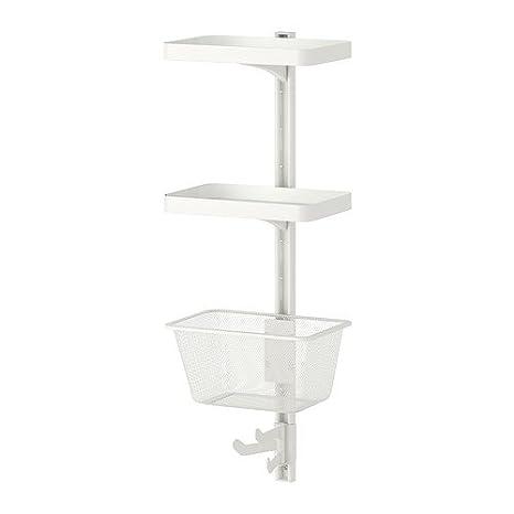 IKEA ALGOT - vertical de la pared/estante/cesta, blanco - 30 x 22 x 84 cm: Amazon.es: Hogar
