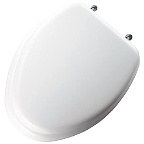 padded toilet seat elongated. Mayfair 113CP 000 Soft Toilet Seat with Molded Wood Core and Classic Chrome  Metal Hinges
