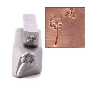 Dandelion & Fluff Metal Design Stamp, 2 Pc 11mm and 3mm Wishing Flower Make a Wish Punch Stamping Tool for Hand Stamped DIY Jewelry Crafts - Beaducation Original Metal Design Stamps