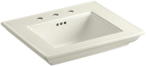 Lavatory Memoirs Stately Biscuit (KOHLER K-2345-8-96 Memoirs Bathroom Sink Basin with Stately Design, Biscuit)