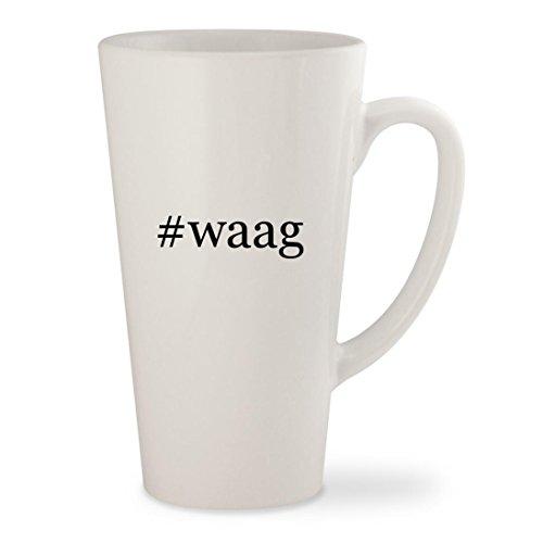 #waag - White Hashtag 17oz Ceramic Latte Mug (04 Waag Grille Guard)