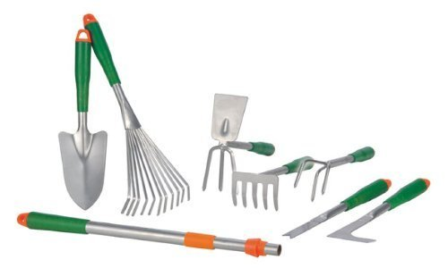 8tlg. Gartenwerkzeug-Set mit Teleskopgriff