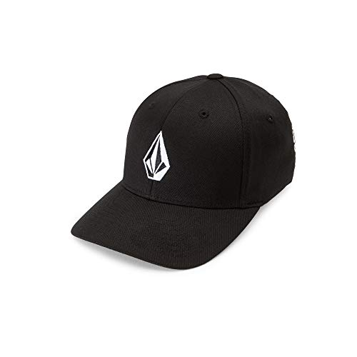 Volcom Big Boys' Full Stone X-Fit Hat Youth,  Black, One Size Fits All