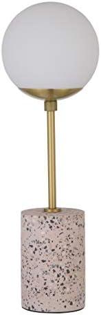 "Amazon Brand – Rivet Globe Stick Table Lamp, 19""H, Pink Ter"