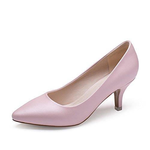 Womens Shoes Fine Heel Flacher Mund Schuhe,Summer-Spitze Chinesische und Koreanische Version der High Heels-A Fußlänge=23.8CM(9.4Inch)