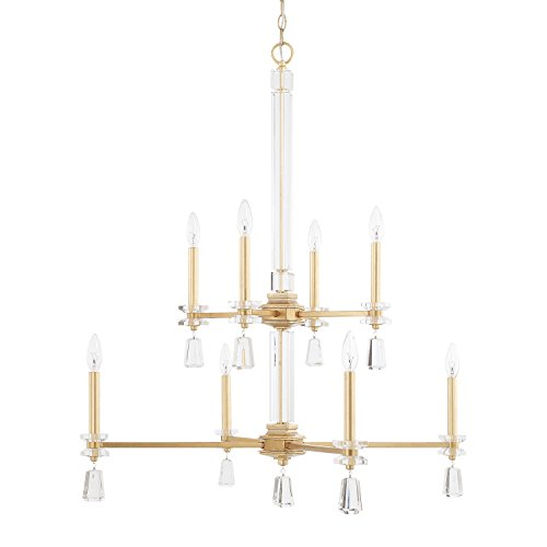 Capital Lighting 419781CG Eight Light Chandelier - Milan 8 Light Chandelier