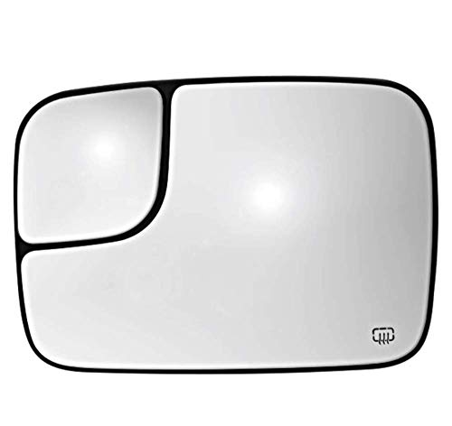 Glass 2002 Dodge Ram - K Source Fits 02-05 Ram Pickup Left Heated 2 Piece Flip Up Tow Mirror Glass w/Holder
