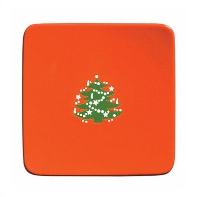 Waechtersbach Large Flat Square Plate with Christmas for sale  Delivered anywhere in USA