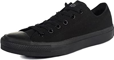 Converse Unisex Chuck Taylor All Star Low Top Black Monochrome Sneakers - 13 D(M) US