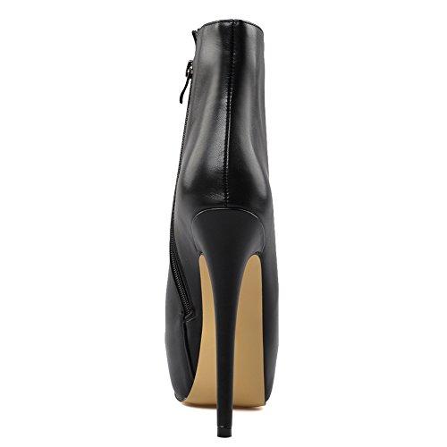 Sexy Black KJJDE Laterale Cerniera Elegante Di Sexy Super Stivaletti Moda Donna Pole Con 42 Dance 071201 Tacco Alto TLJ vqITqpc