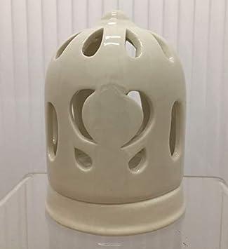 Linterna Pequeña Jaula con Corazón de Porcelana Blanca Detalle ...