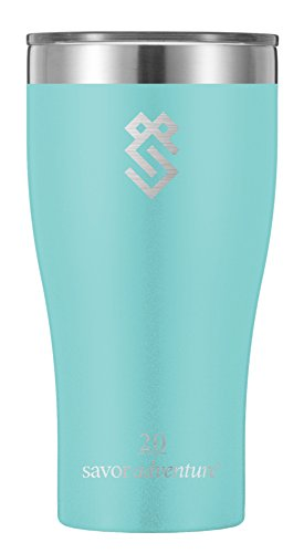 Summit Outdoor 20 oz Double Walled Vacuum Insulated Stainless Steel Travel Tumbler with Lid, Use as a Coffee Mug, Pilsner Beer Glass, Iced Tea or Water Cup, For Men or Women, 24 hour Ice Retention