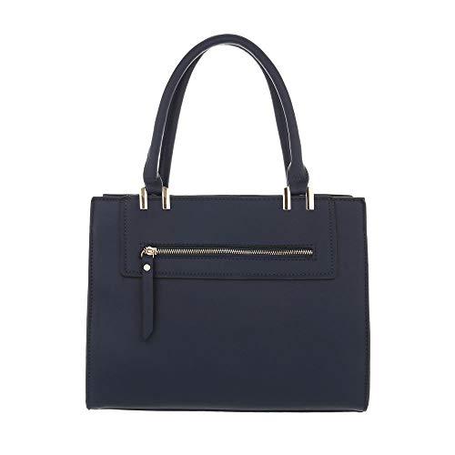 Sac à l'épaule à Size Design Ital One bleu porter Bleu foncé pour femme 6xpWf4