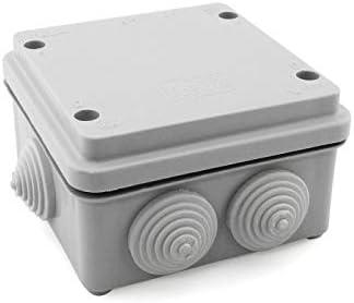 Caja de empalme superficie gris estanca 105x105x65mm IP55: Amazon ...