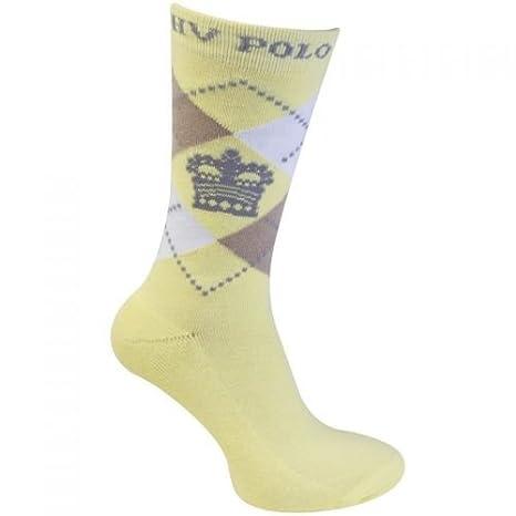 HV Polo - Calcetines de equitación Argyle Short Vanilla de arena ...