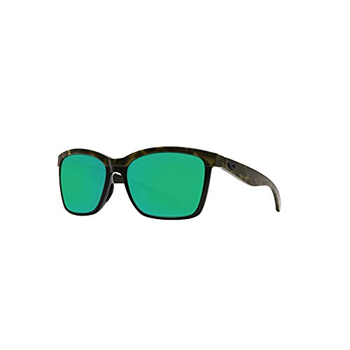 Costa Del Mar Anaa Sunglasses Olive Tort on Black Green Mirror - Costa Playa Sunglasses