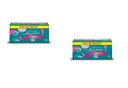 Assurance for Women Maximum Absorbency Protective Underwear, Large, 108 Count Value Pack - Maximum Protective Underwear