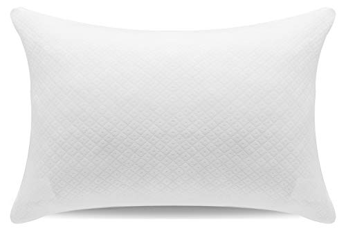 Familamb Shredded Memory Foam Pillows for Sleeping Adjustable Bed Pillows with Washable Bamboo Cover Sleeping Pillow for Side/Stomach/Back Sleepers Hypoallergenic and Dust Mite Resistant Queen Size
