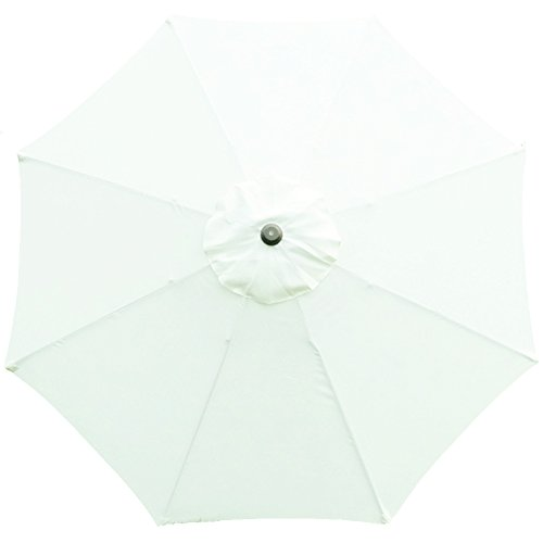 Tokept Replacement Umbrella Canopy for 9ft 8 Ribs White (Canopy Only)