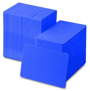 Hospital Blue 30 mil CR80 Graphic Quality PVC Cards (500/Box) - Quality 30 Mil 500 Card