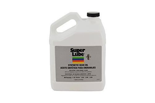 Super Lube 54201 Synthetic Gear Oil ISO 220, 1 gal Bottle, Translucent ()