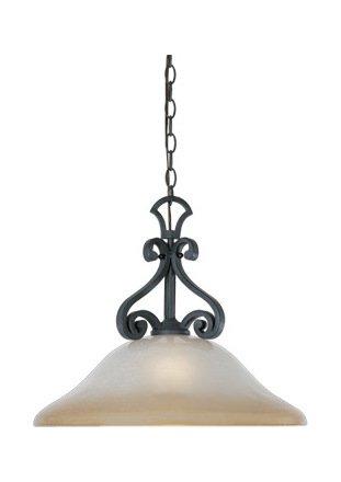 (Natural Iron Single Light Down Lighting Pendant from The Barcelona)
