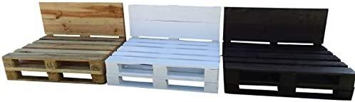 Estructura de Sofá Hecha con Palets/Pallets Color Madera con Respaldo para Interior & Exterior para Patio, Jardín Hecho con Palets de Madera - 2 ...