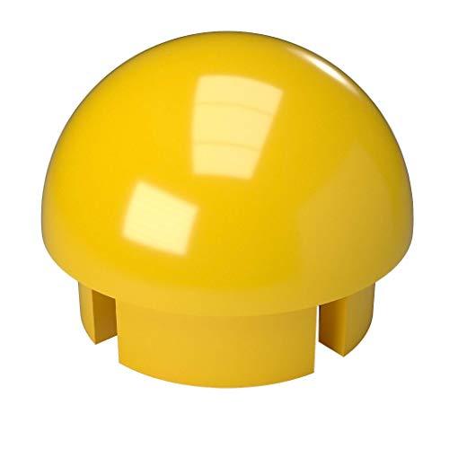 FORMUFIT F114BEC-YE-10 PVC Internal Ball End Cap, Furniture Grade, 1-1/4 Size, Yellow (Pack of 10)