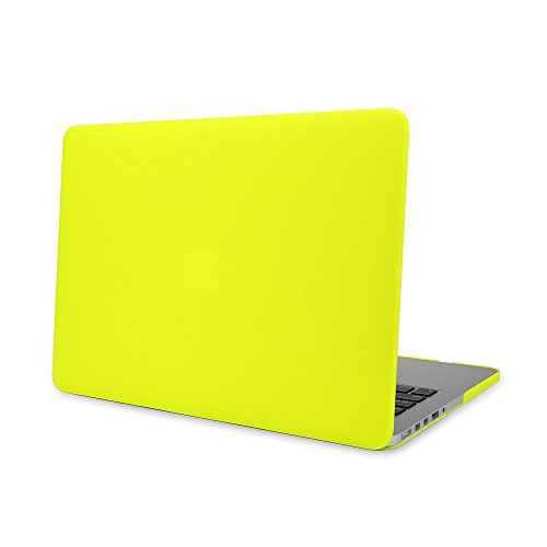 Matte Rubberized Hard Case Cover for Macbook ProLaptop Shell- Air 13 inch Yellow by TOOGOO (Image #4)