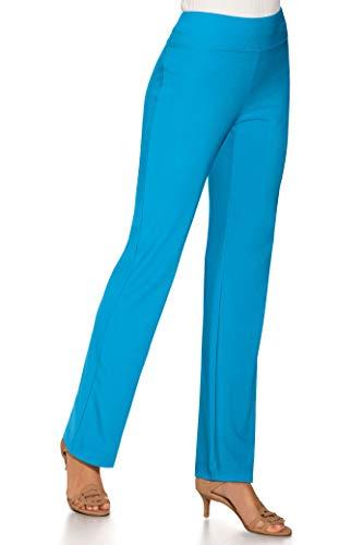 Beyond Travel Women's Wrinkle-Resistant Straight-Leg Knit Solid Color Pant Maliu Blue Medium ()