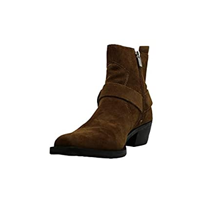 DKNY Womens Mina Suede Almond Toe Ankle Fashion Boots, Brown, Size 4