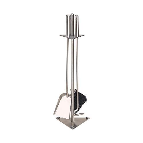 Schössmetall Kamingarnitur 3-TLG. Edelstahl, Trigo-5 04570100