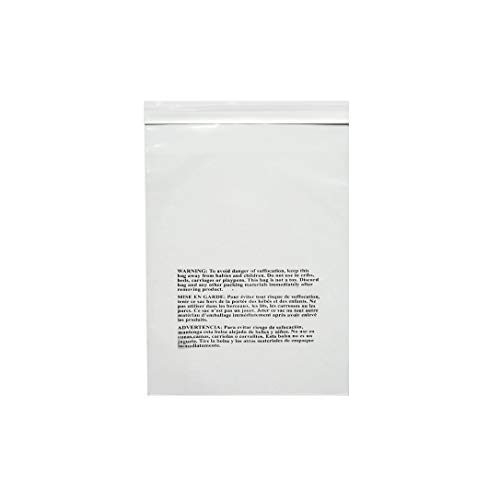 """PACK OF AMERICA 6x9 Clear Pack of 200 Poly Bags   1.5 Mil Industrial Strength   Safety Suffocation Warning Printed   Multiple Size Options   Not Resealable   Permanent Extra Strong Self Seal 6""""x9"""""""