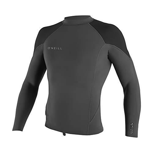 O'Neill Wetsuits Men's Reactor-2 1.5mm Long Sleeve Top, Graphic/Black/Ocean, -