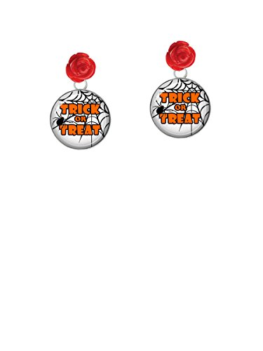 Sweetheart Candy Costume (Domed Trick or Treat - Red Rose Earrings)