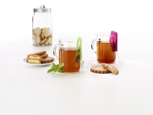 Lékué Exprimidor para bolsita de té o infusión, Silicona, Naranja, 75x45x15 mm: Amazon.es: Hogar