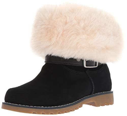 (UGG Girls' K Nessa Fashion Boot, Black, 4 M US Big)