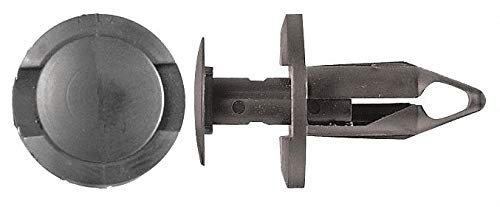 Keyhole Push In Rivet, Nylon, 8mm Dia, 20mm L, 8mm, Black - pack of 5 by Unknown